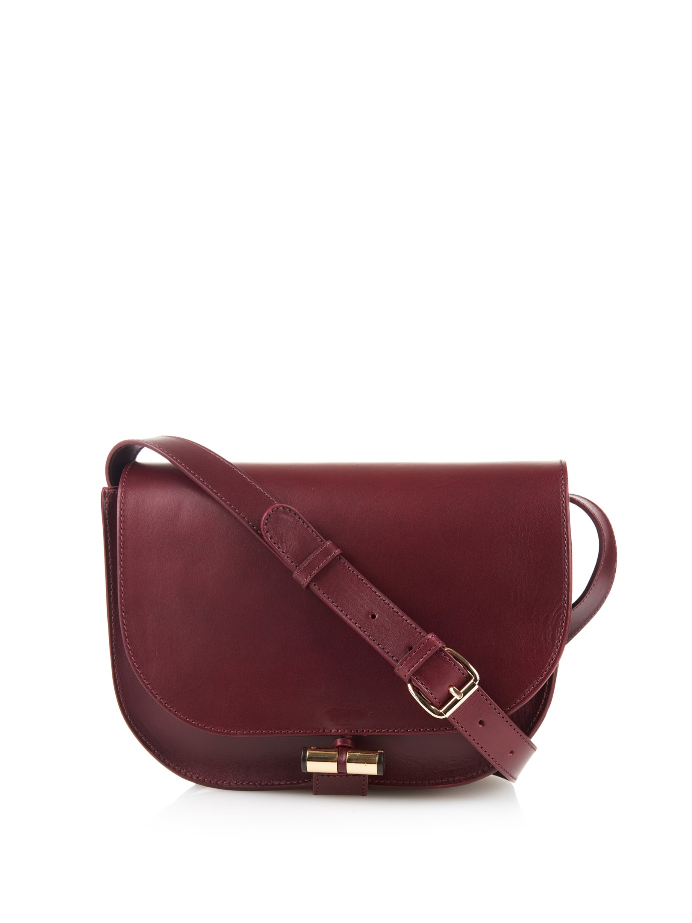 1af050f8f2 Lyst - A.P.C. June Leather Cross-Body Bag in Purple