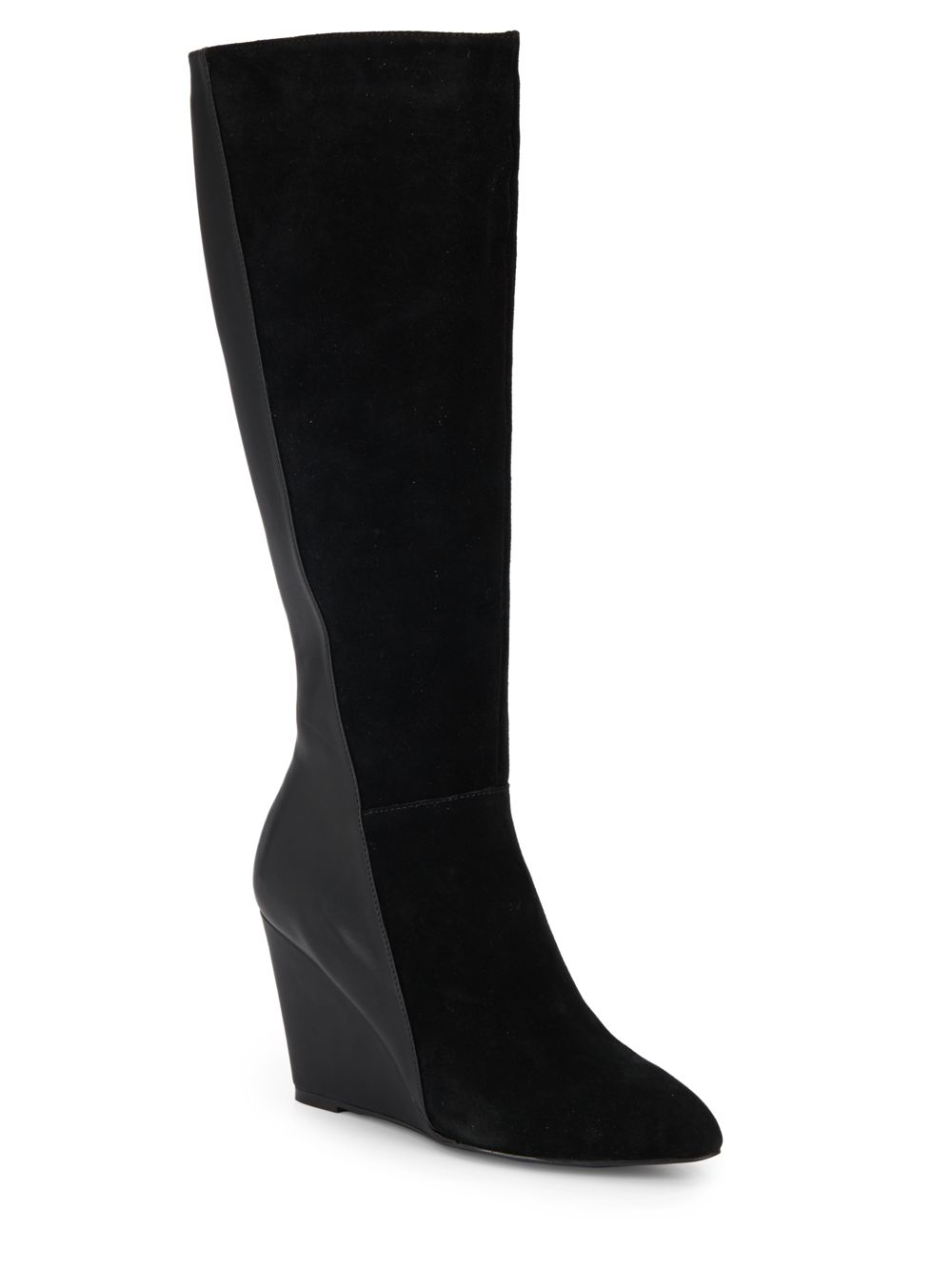 charles by charles david easton suede paneled wedge boots