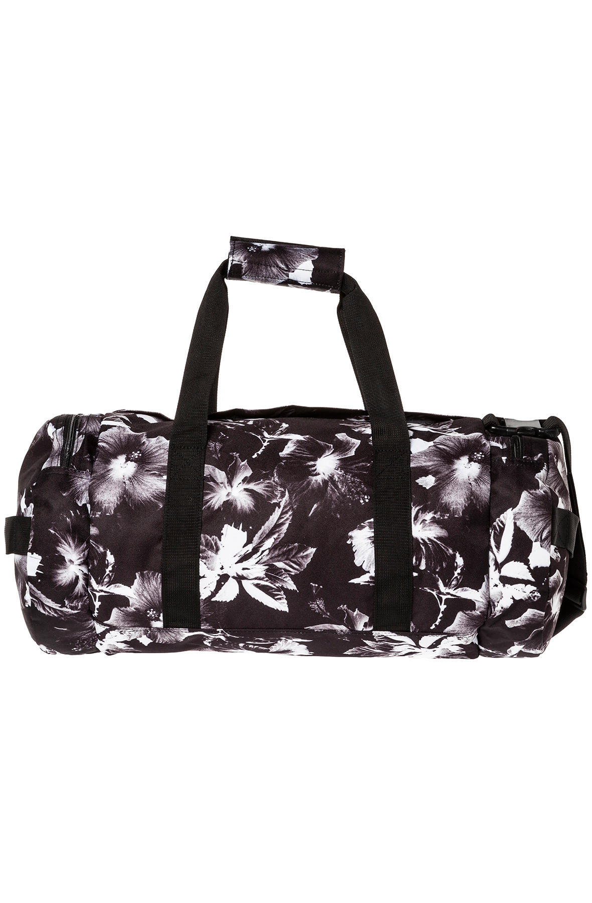 huf the floral duffle bag in black for lyst