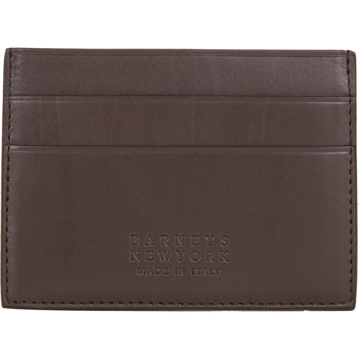 lyst barneys new york credit card case in brown for men. Black Bedroom Furniture Sets. Home Design Ideas