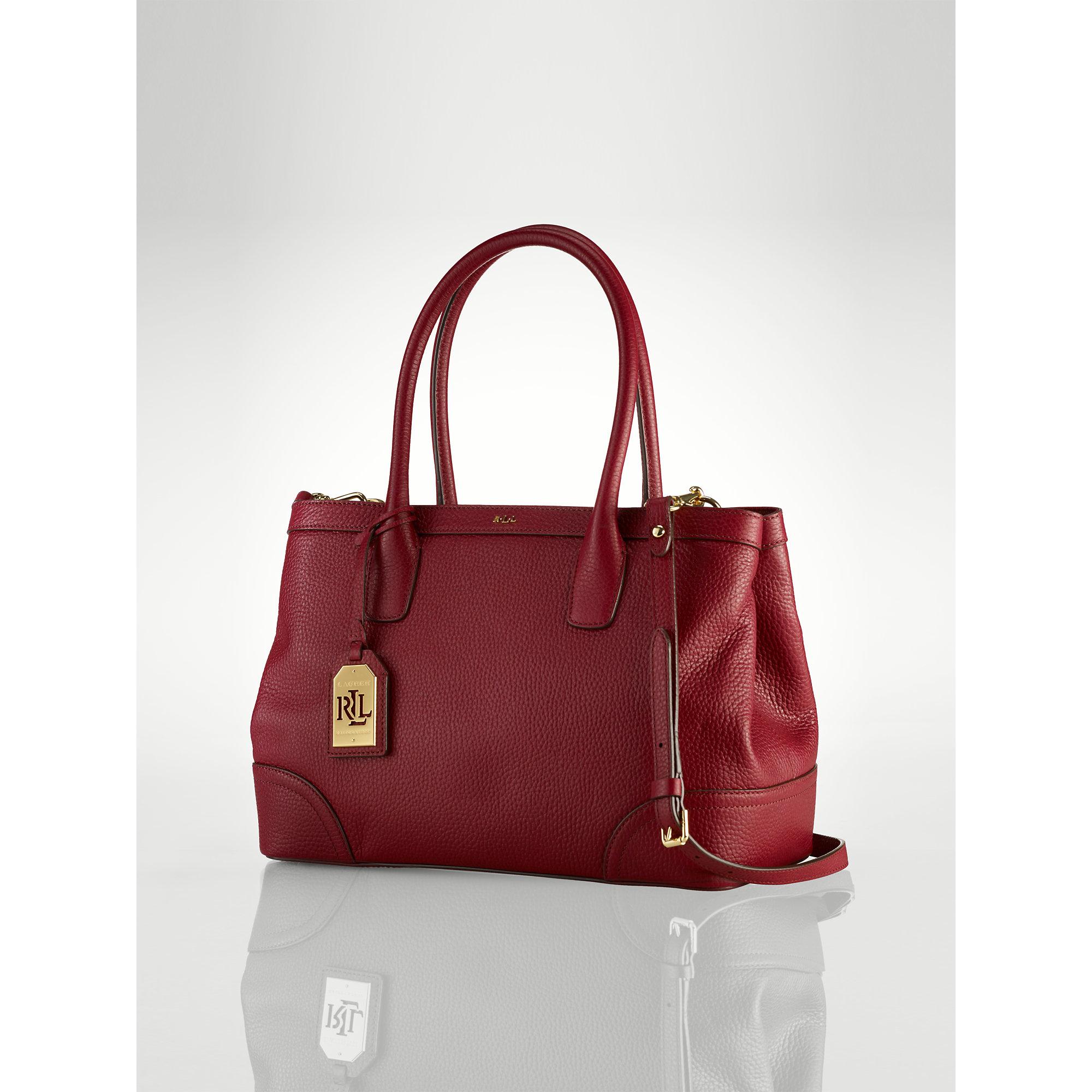 Ralph Lauren City Laukku : Ralph lauren city leather per in red lyst