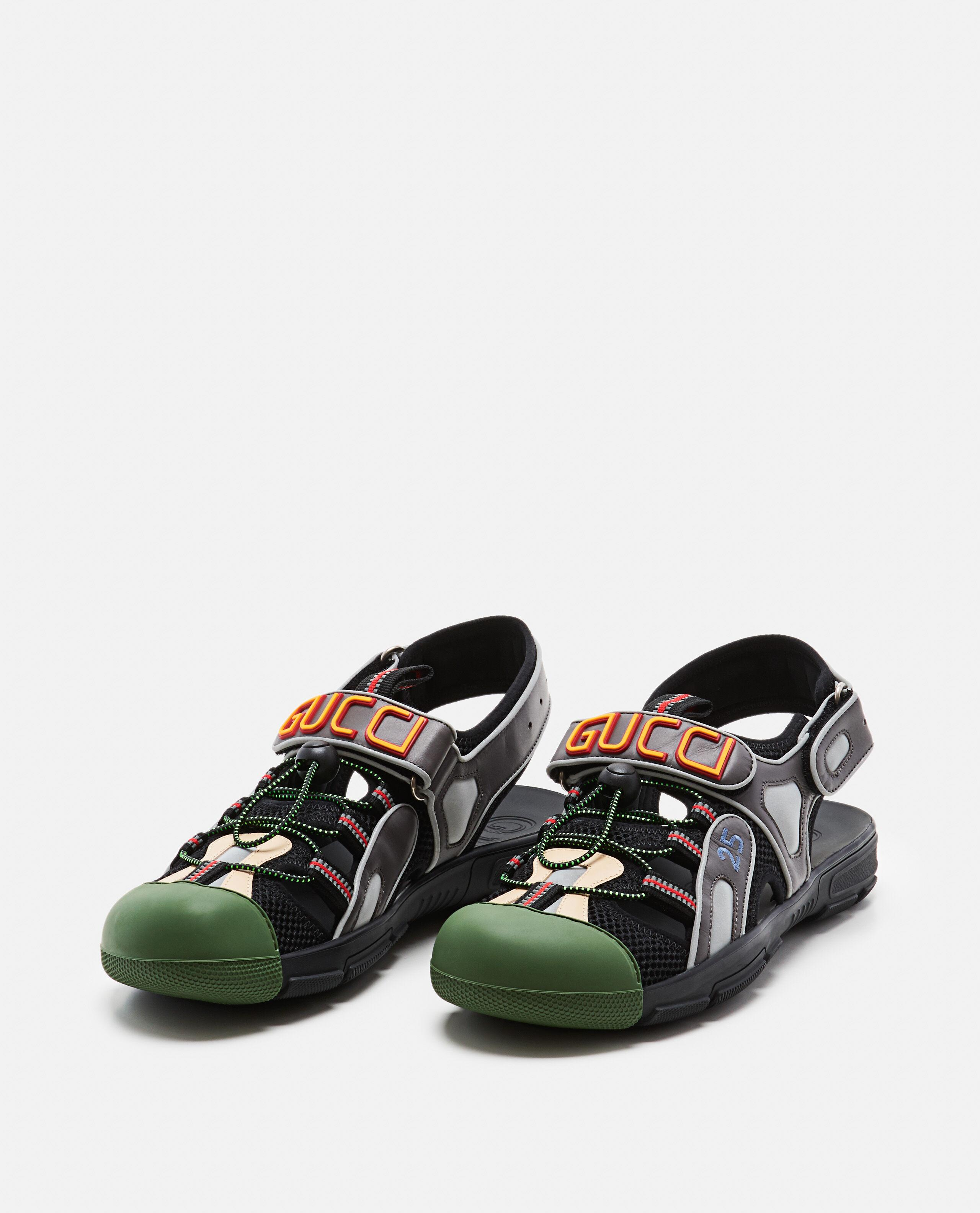 aefc76888 Gucci Leather And Mesh Sandal in Green for Men - Lyst