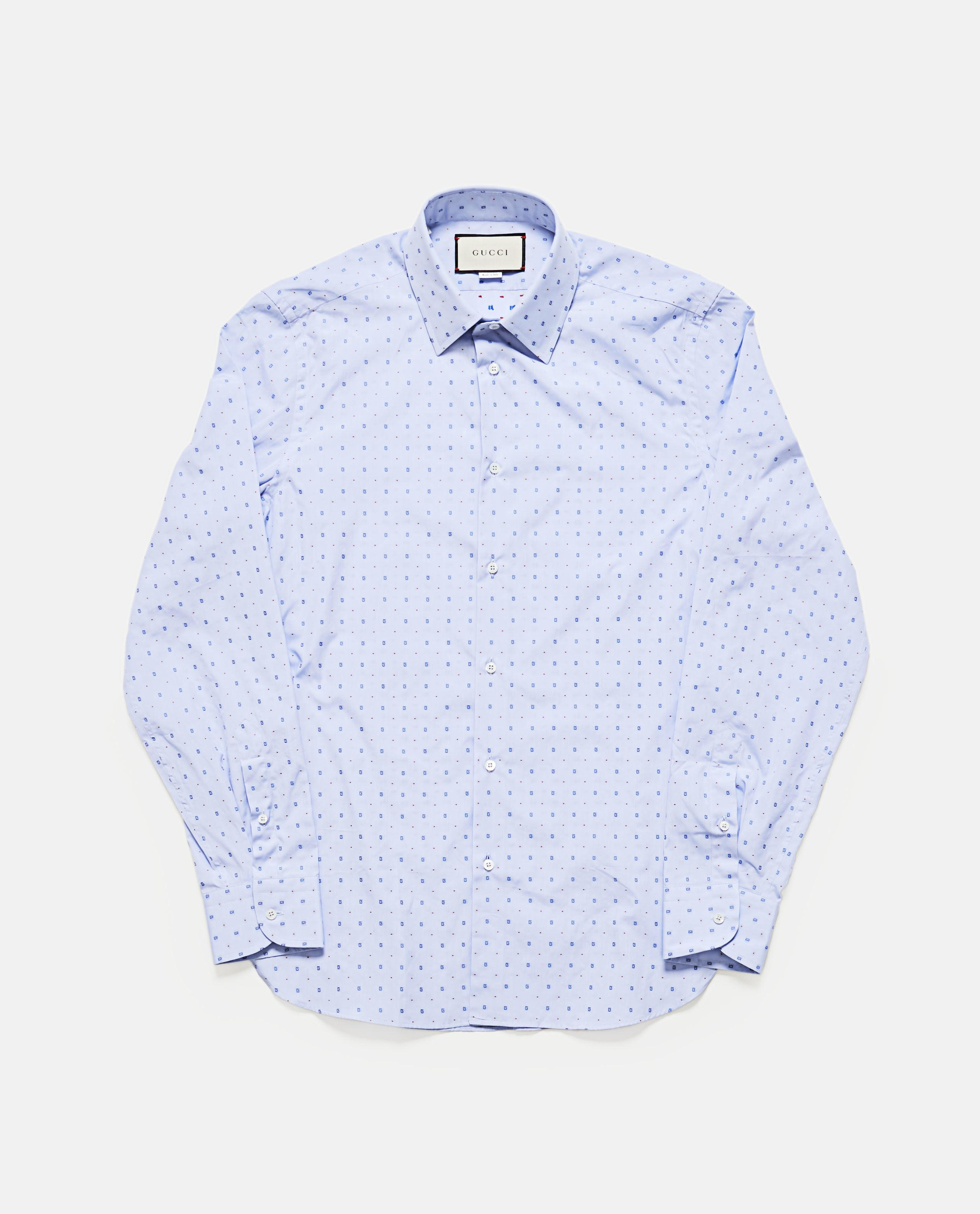 d296540da3e Lyst - Gucci G Dot Fil Coupé Oxford Shirt in Blue for Men