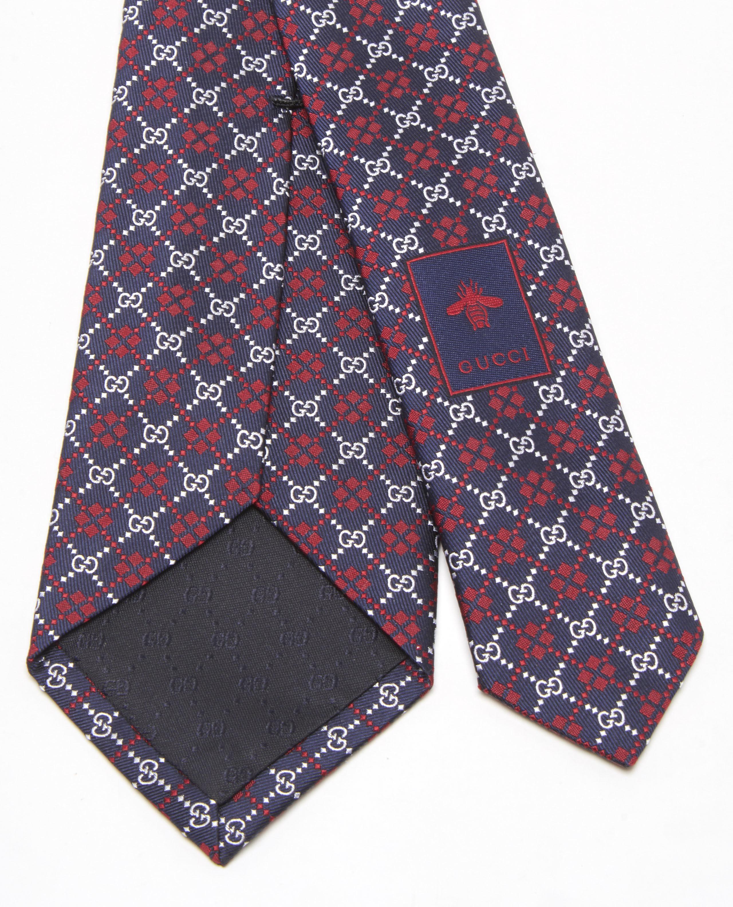 bcc57e99959 Lyst - Gucci GG Diamond Silk Tie in Blue for Men