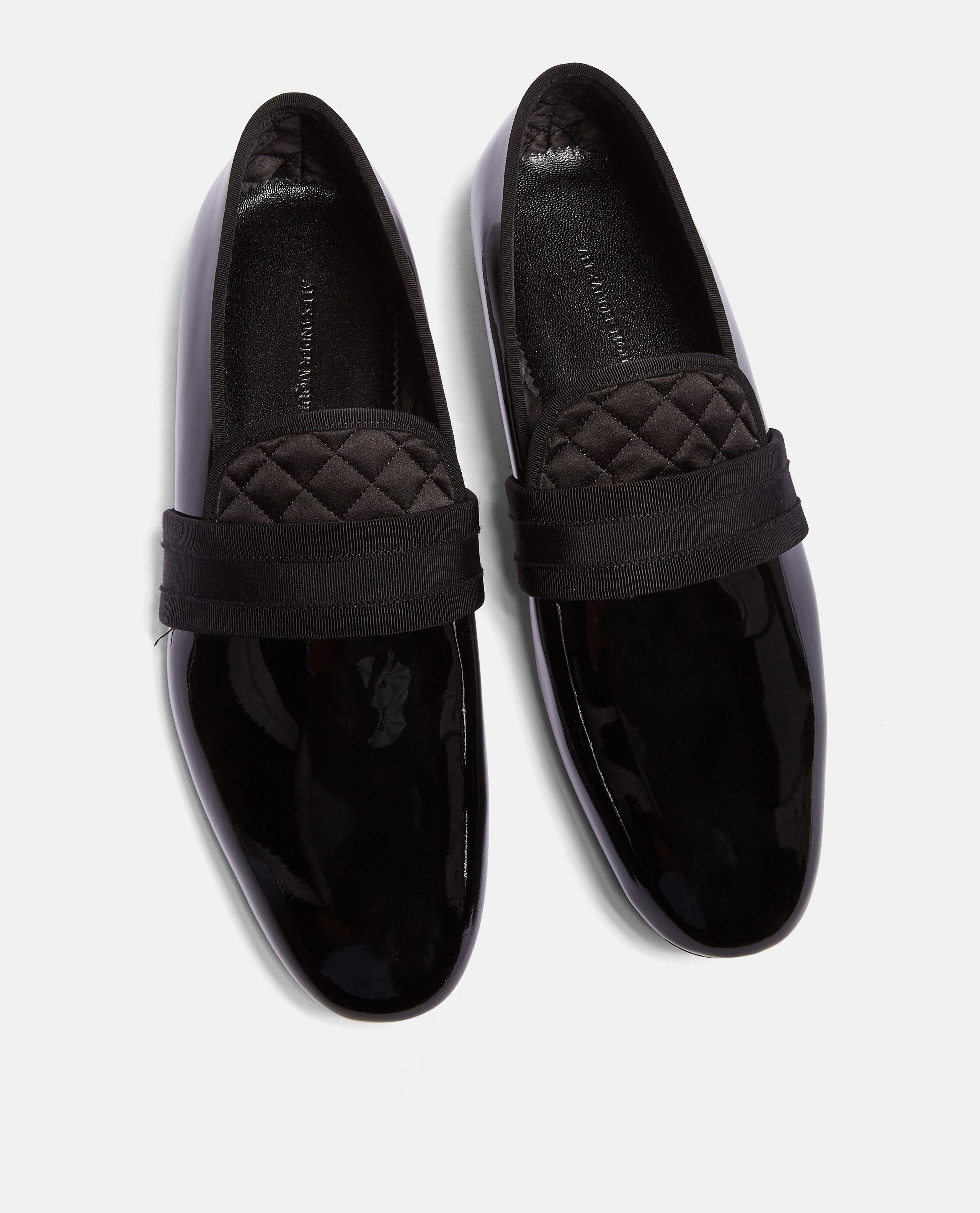 6dc040bb817 Alexander Mcqueen Patent Moccasins in Black for Men - Lyst