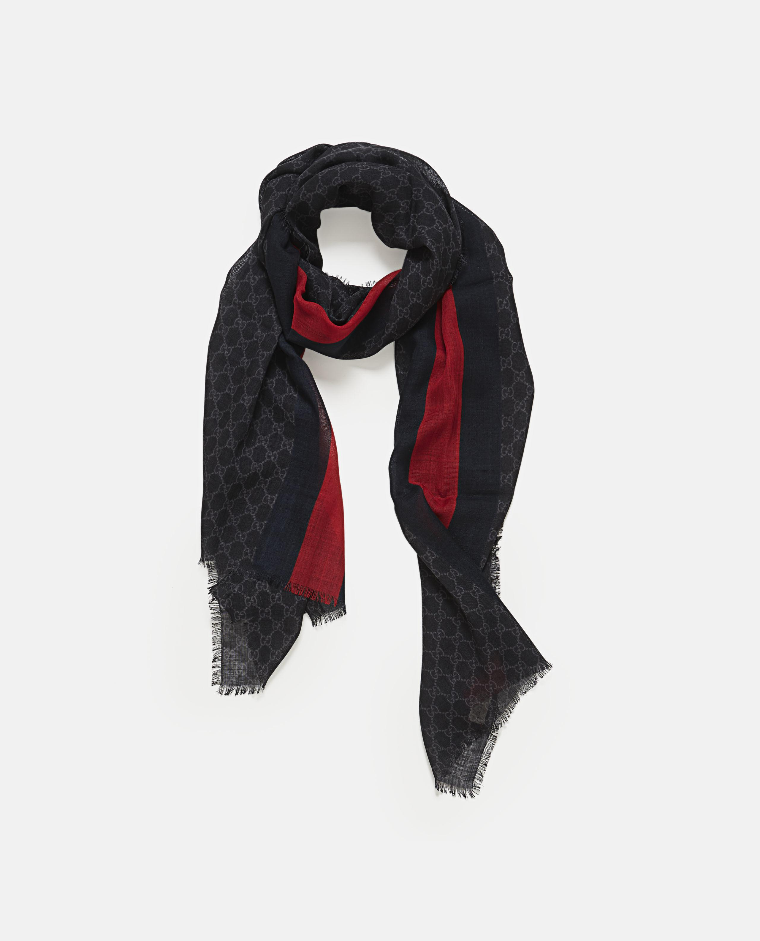 637f4087b Gucci GG Web Wool Stole in Red for Men - Lyst