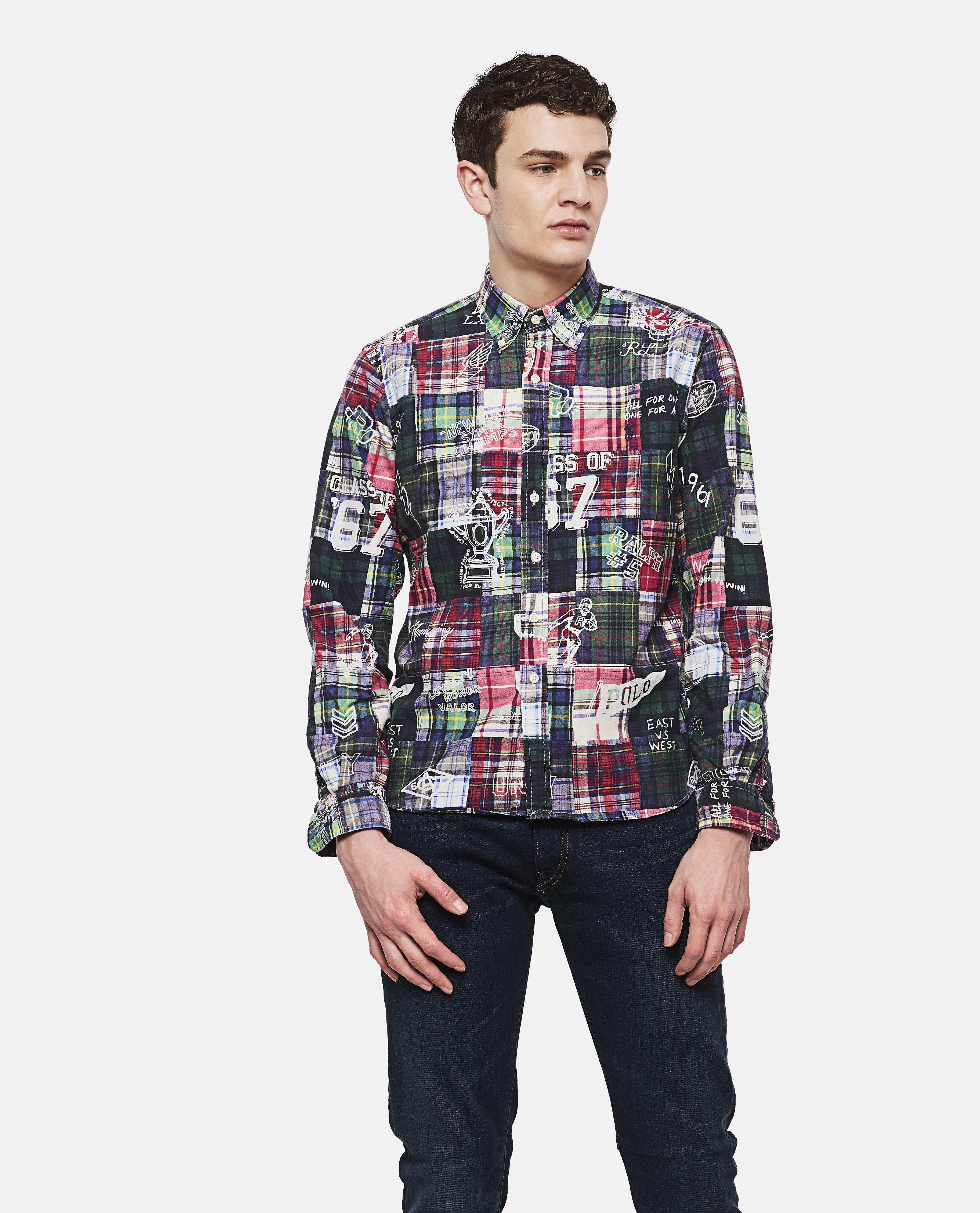 72866bcd Lyst - Ralph Lauren Patchwork Shirt in Green for Men