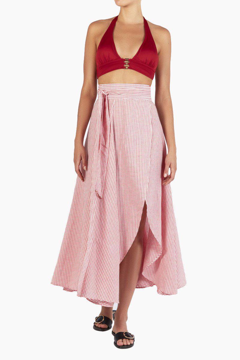 3426f69bb1 Evarae - Milu Wrap Skirt - Red Texture - Lyst. View fullscreen