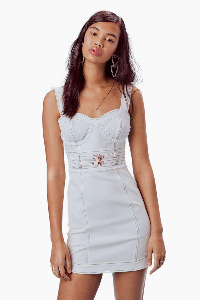 d676633180 Gallery. Previously sold at  Bikini.com · Women s Denim Dresses Women s  White ...