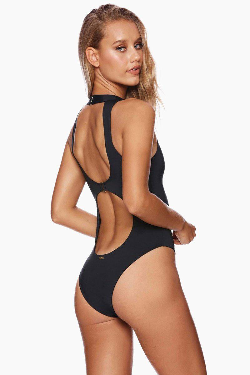 62aa2ee4f8 Beach Bunny Zoey Zip Up One Piece Swimsuit - Black in Black - Lyst
