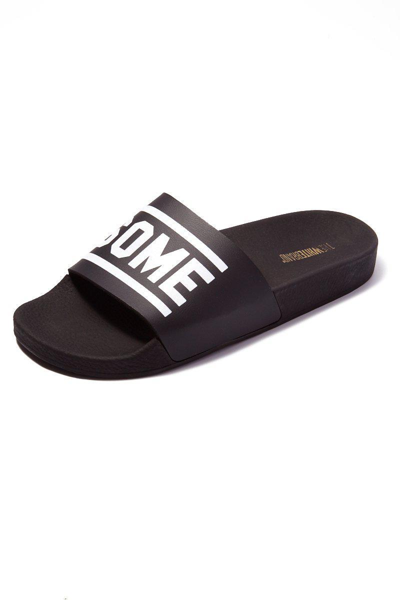 b116133072a The Whitebrand Awesome Minimal Slides (men s) - Black in Black for ...