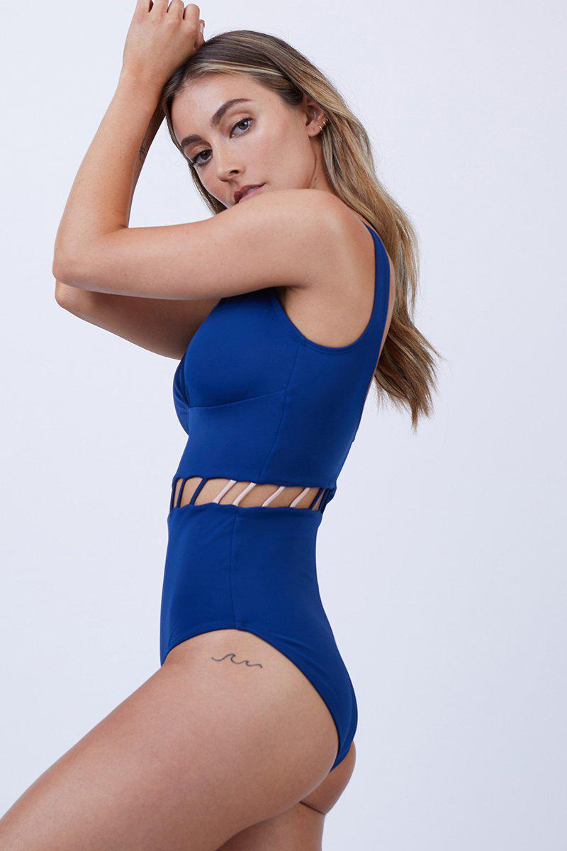 e5a8878c0f70 Lyst - Peixoto Jade Full One Piece Swimsuit - Royal in Blue