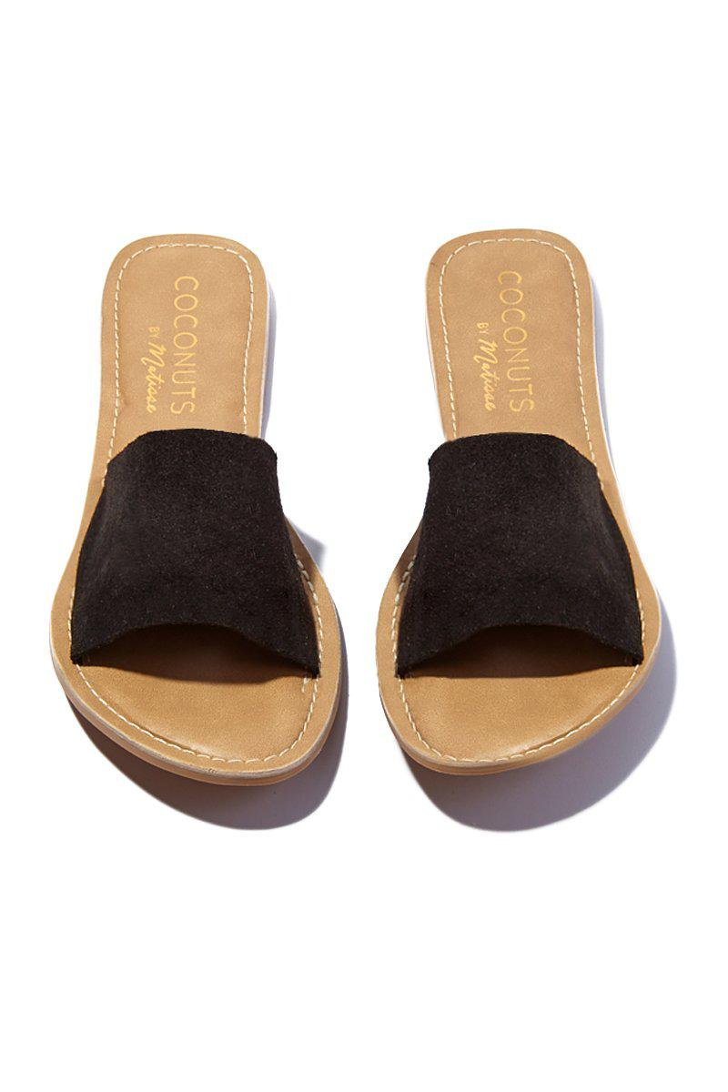 d76b31c81ce05f Matisse - Black Suede Cabana Sandals - Lyst. View fullscreen