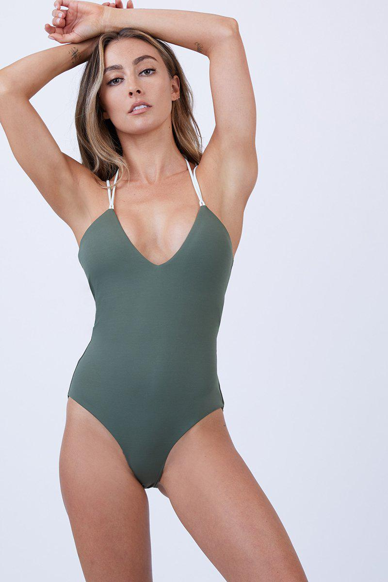 d884e6ad28 Peixoto Gigi Criss Cross One Piece Swimsuit - Mojito - Lyst