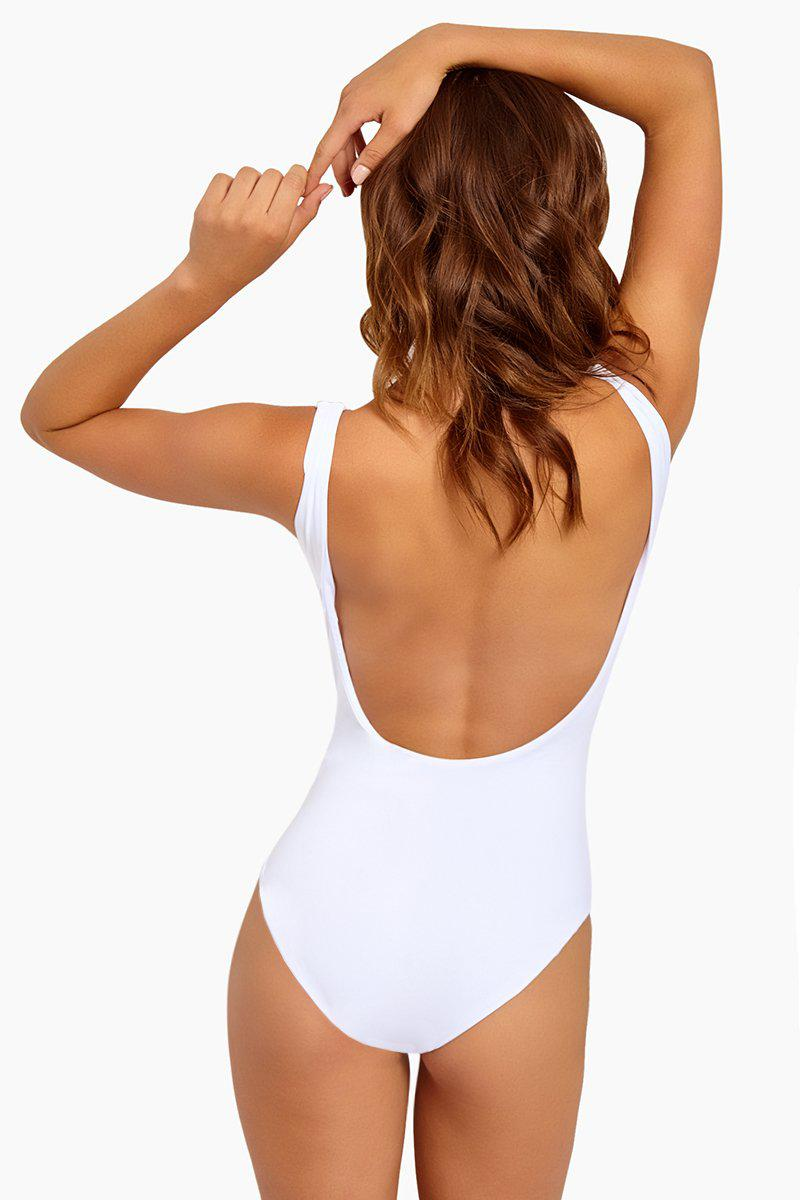 685f3656241f3 Onia - White Kelly Scoop Back One Piece Swimsuit - Flamingo - Lyst. View  fullscreen