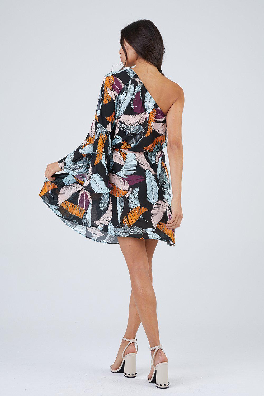 b3e67e0943 Maaji - Multicolor Walk On The Beach Dress - Leaf Print - Lyst. View  fullscreen