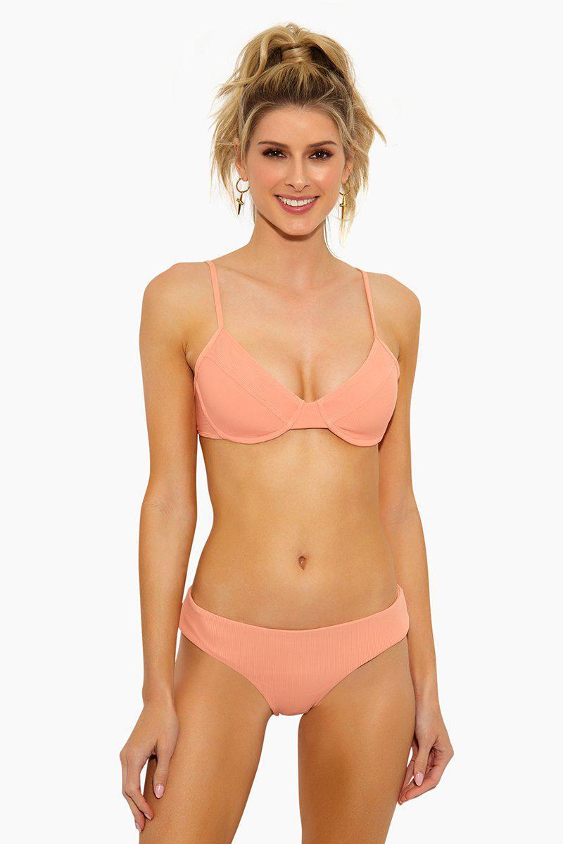 4708f55189ce5 L*Space. Women's Missy Underwire Bikini Top - Tropical Peach