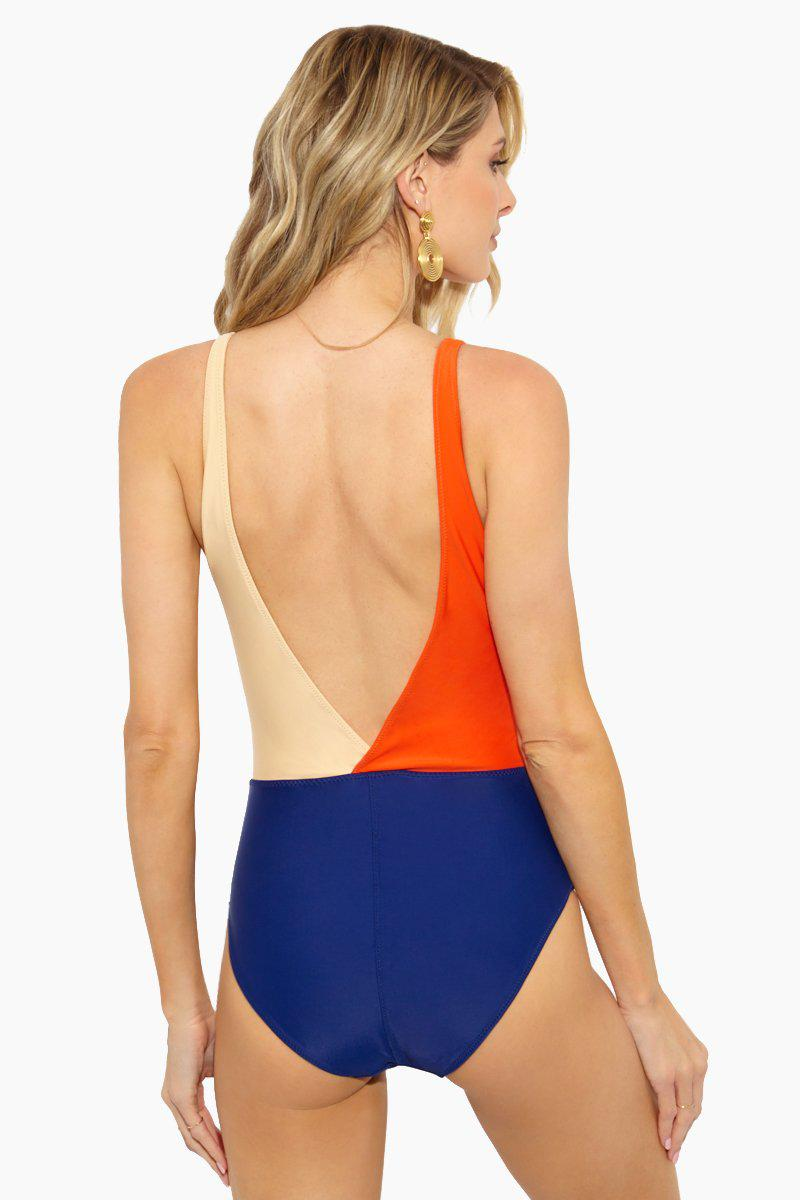 f287a50bdb9bb Aila Blue Freedom Deep V One Piece - Pomelo nude lapis in Orange ...
