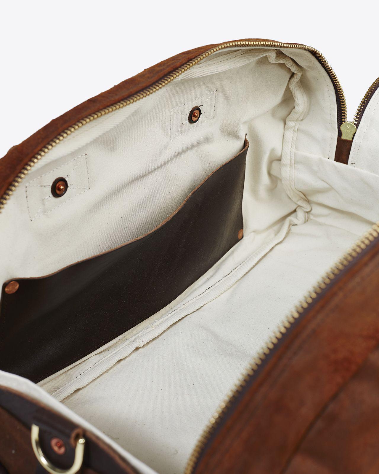 935e9892f0 Lyst - Billy Reid Double Zip Duffle Bag in Brown