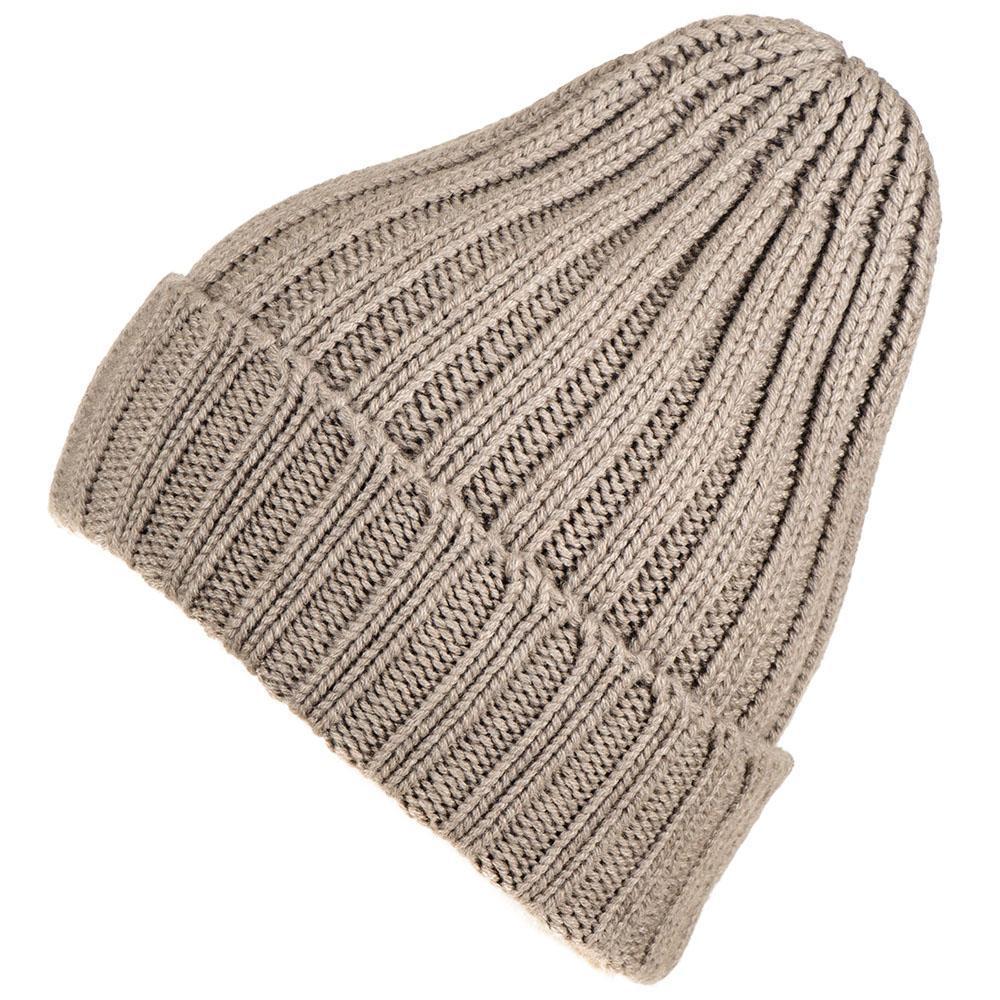 3d9ba80d191 Black.co.uk Light Taupe Chunky Rib Knit Cashmere Beanie for Men - Lyst