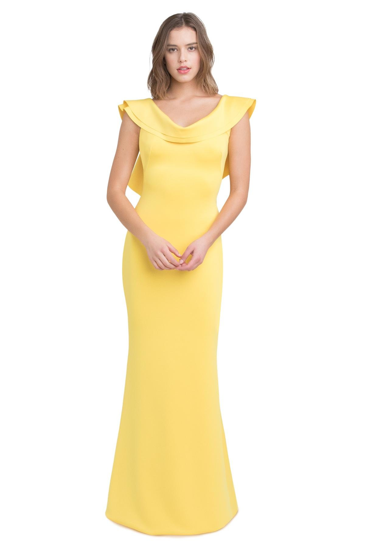 5d7aa876 Black Halo - Yellow Patricia Gown - Lyst. View fullscreen