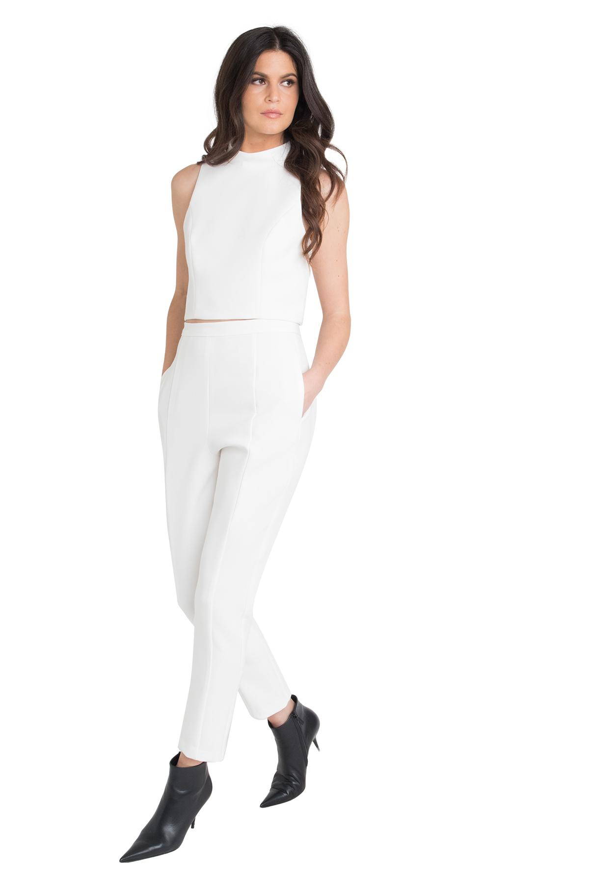 65404783a09 Black Halo - White Juma Two Piece Jumpsuit - Lyst. View fullscreen