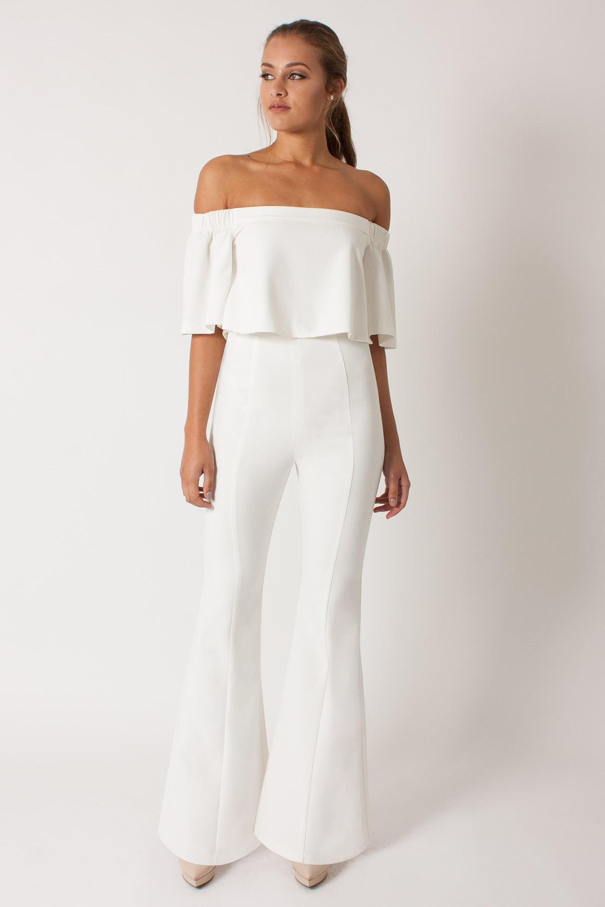 Lyst Black Halo Hadid Two Piece Jumpsuit In White