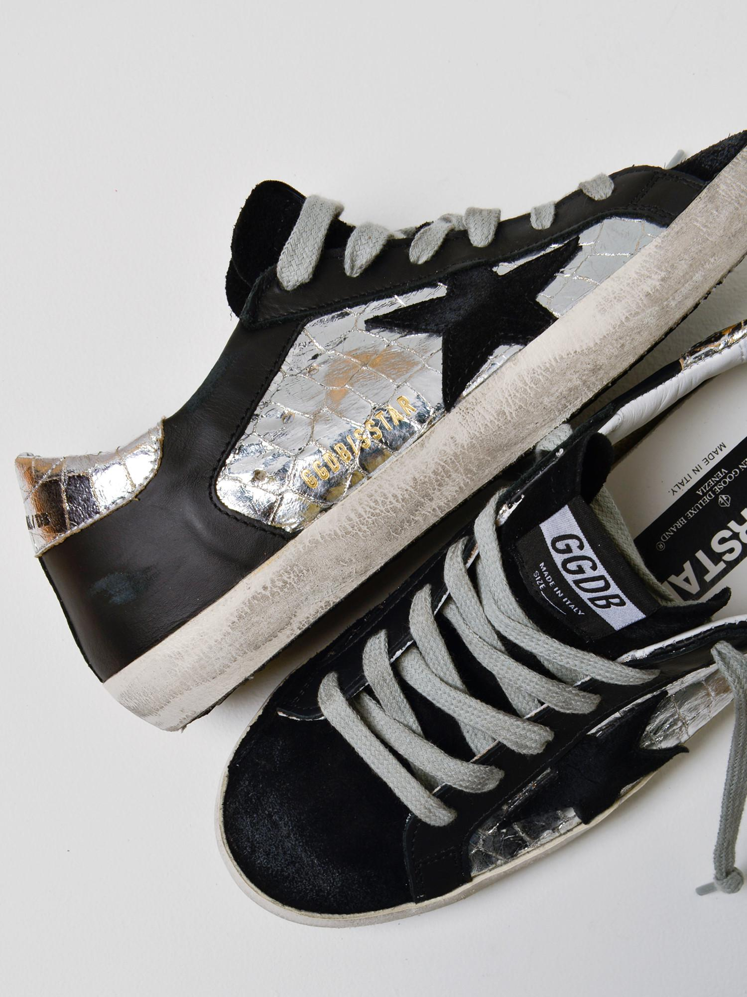 c1cca08997cb Golden Goose Deluxe Brand - Sneakers Superstar silver Cocco Black Star for  Men - Lyst. View fullscreen