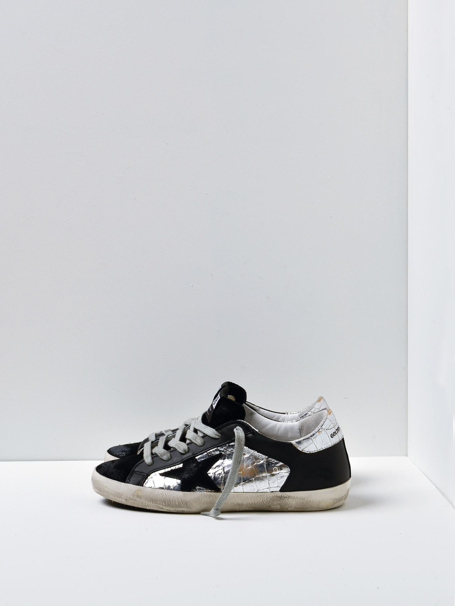499243a63b7a Lyst - Golden Goose Deluxe Brand Sneakers Superstar silver Cocco ...