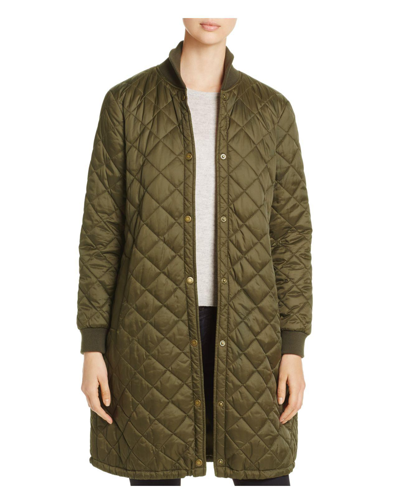 Lyst - Barbour Ebbertson Long Quilted Coat in Green