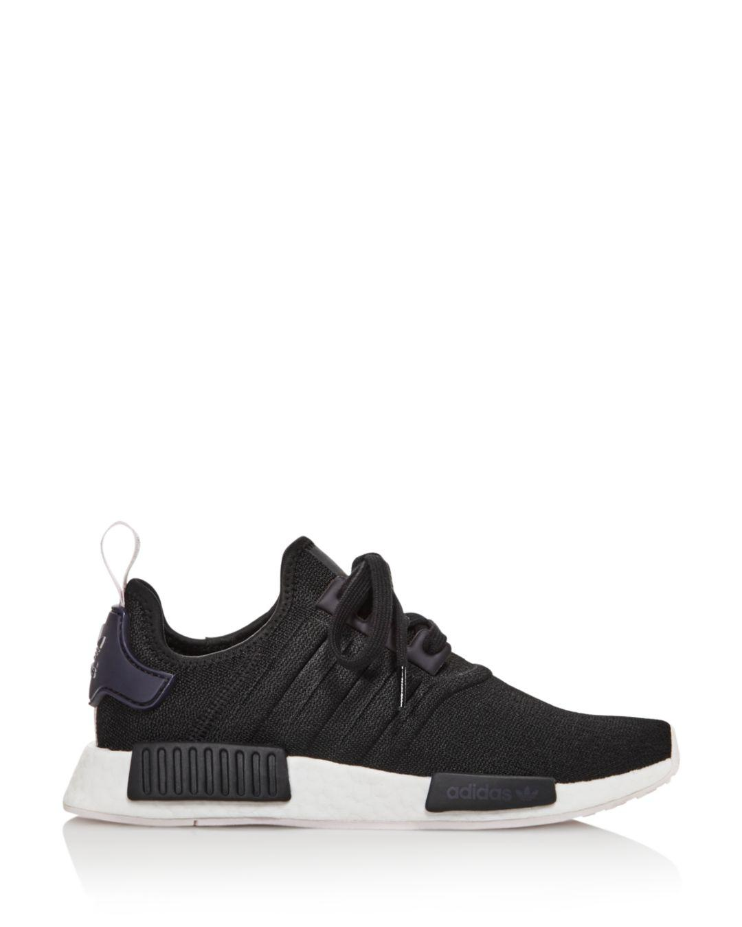 a91690c8863f9 Lyst - adidas Women s Nmd R1 Knit Lace Up Sneakers in Black