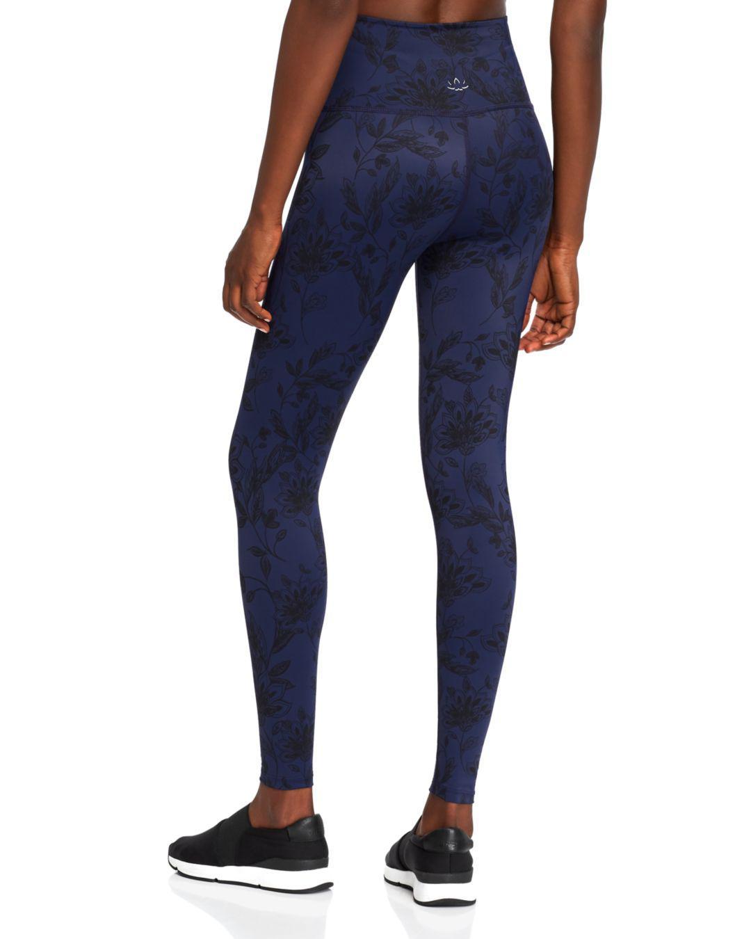 76f452d557 Beyond Yoga High-waisted Floral Print Leggings in Blue - Lyst