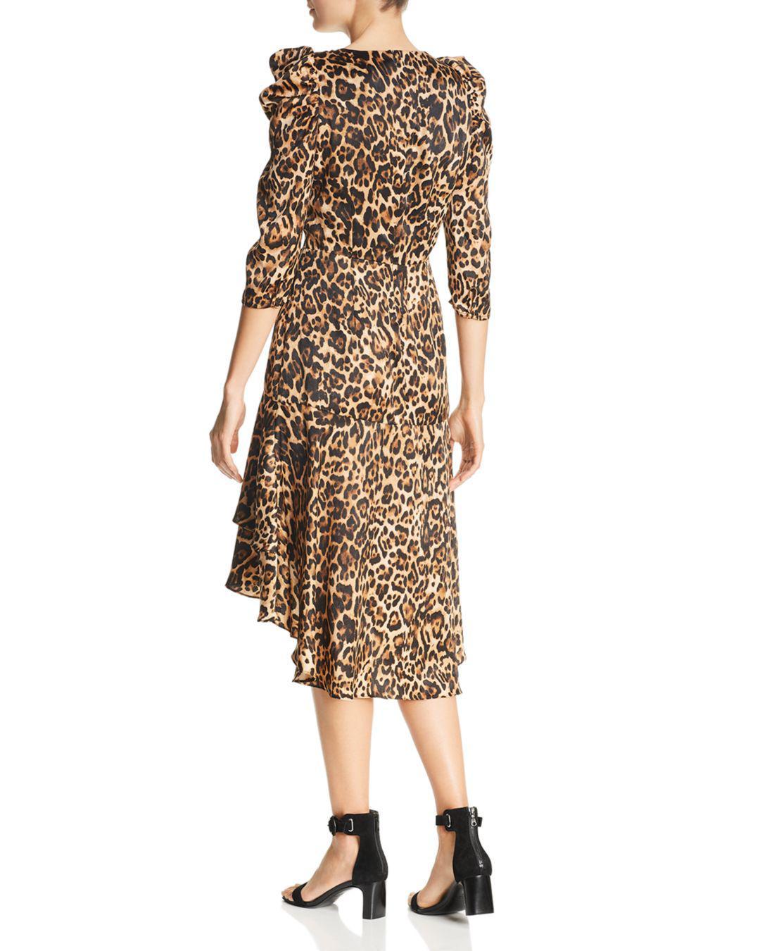 81feaaaea76 Lyst - Lucy Paris Drew Puff-sleeve Leopard Dress in Brown