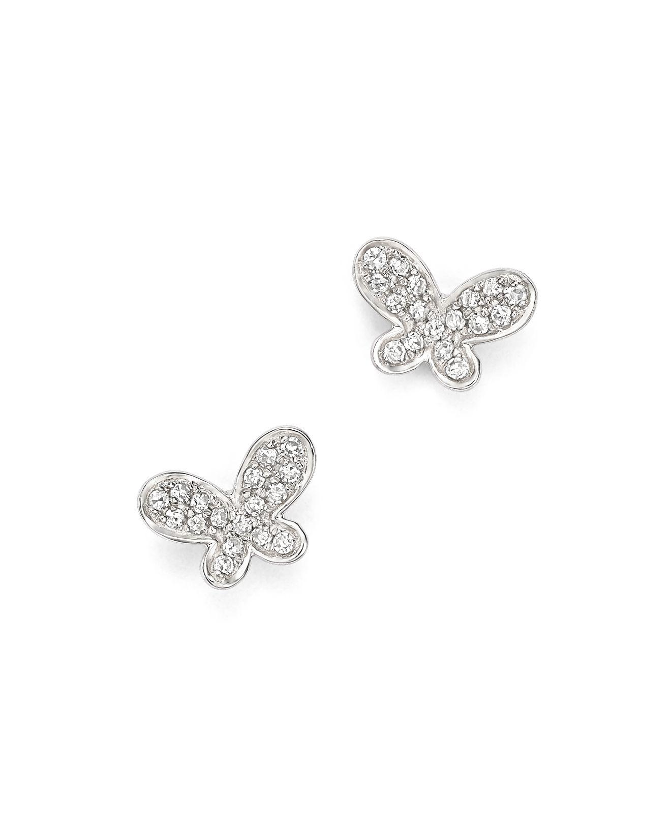 at uk silver gold butterfly plated toxicfox co earrings stud