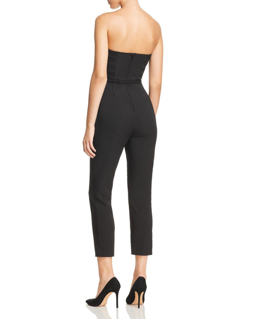 fff171b77e89 Finders Keepers Sangria Strapless Bustier Slim Pants Dress Jumpsuit in Black  - Lyst
