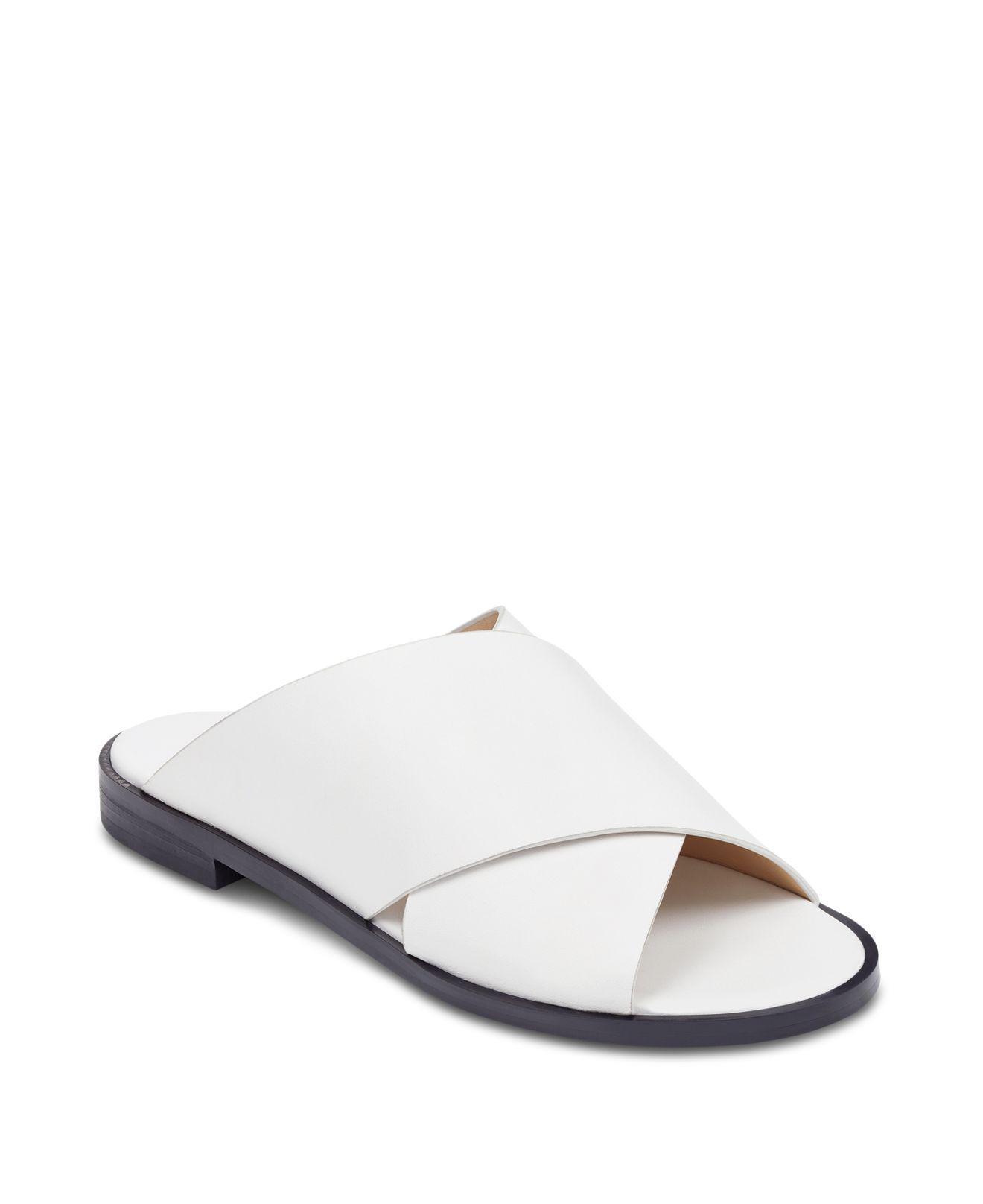 MARC FISHER Idinia Leather Slide Sandals Vy2n2N5iGJ