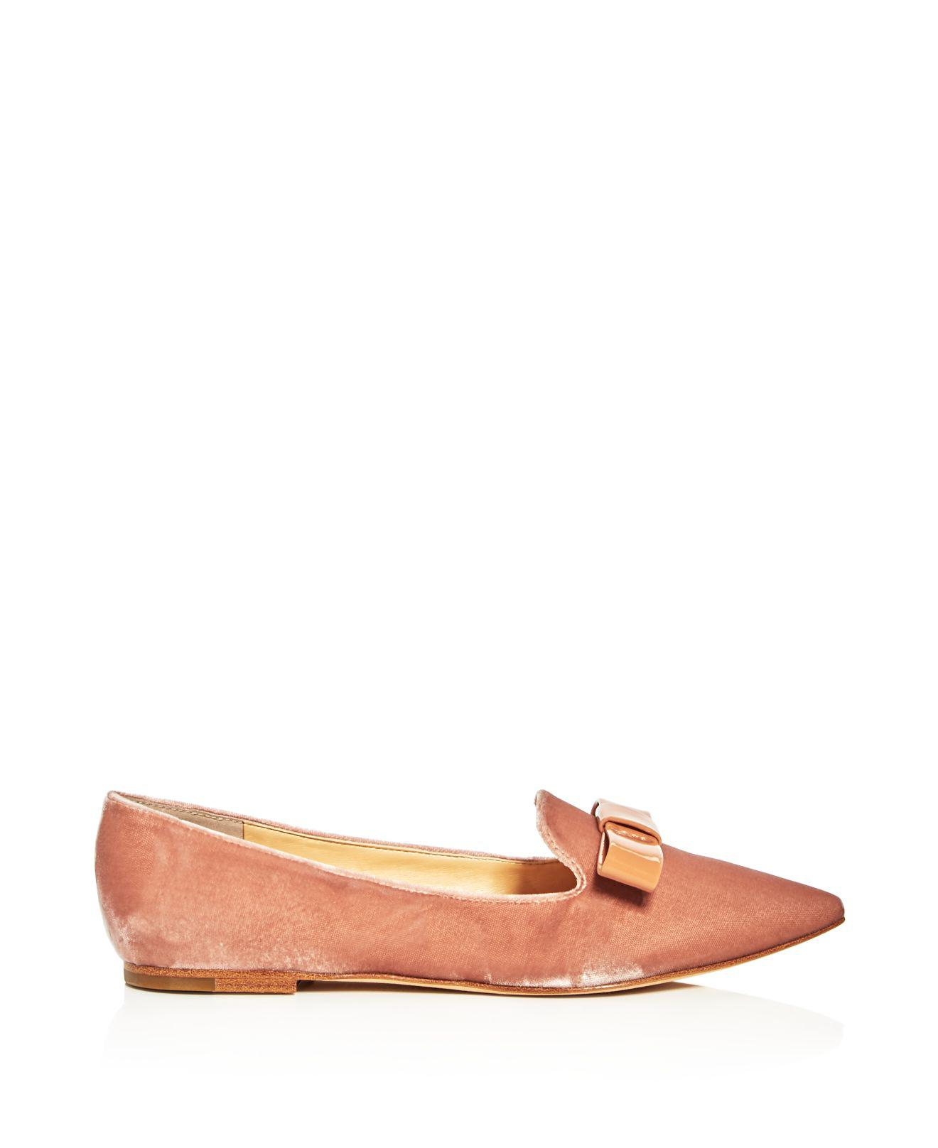 Ivanka Trump Lelle Velvet Pointed Toe Flats hZgPWzG