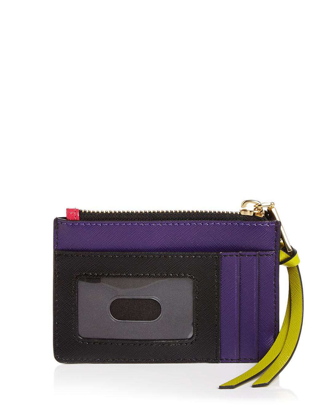 dc631937b59f Marc Jacobs Top Zip Leather Multi Card Case - Lyst