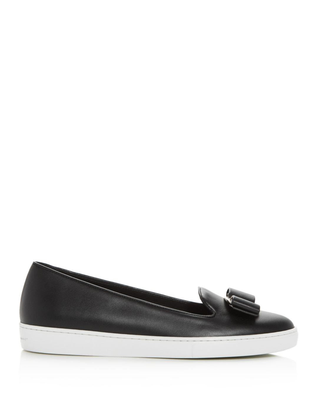 fe1e8264386dd Lyst - Ferragamo Women s Novello Slip-on Sneakers in Black