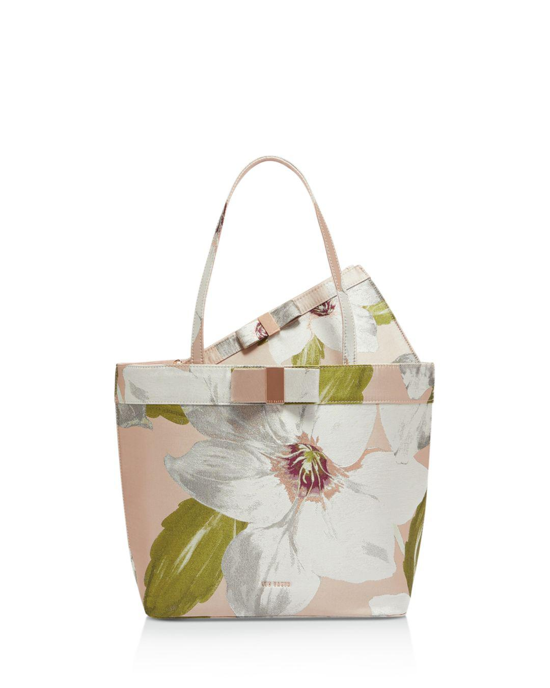 c892e6426a62 Lyst - Ted Baker Cherrey Chatsworth Satin Shopper Tote