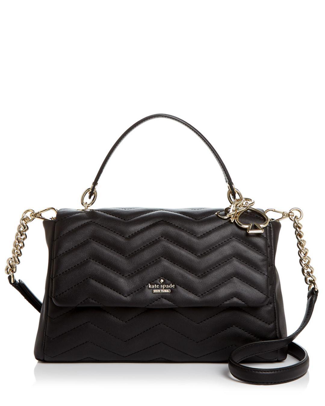 f87dd75e9d Kate Spade Reese Park Ivory Medium Leather Shoulder Bag in Black - Lyst