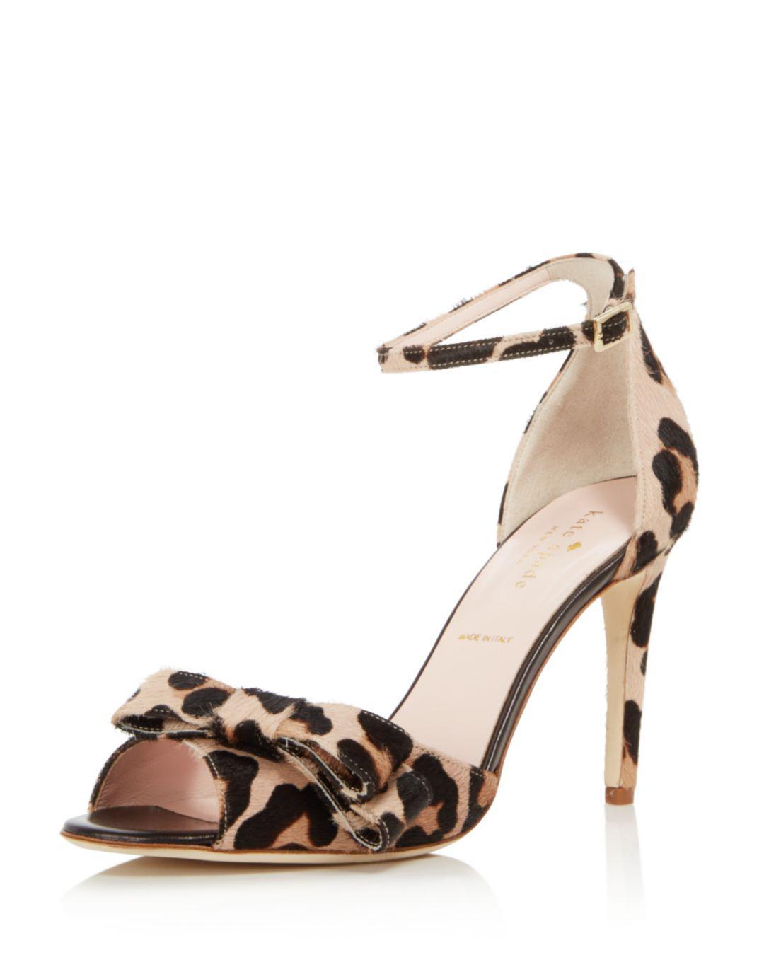 80153f9c8c75 Lyst - Kate Spade Women s Ismay Leopard Print Calf Hair High-heel ...