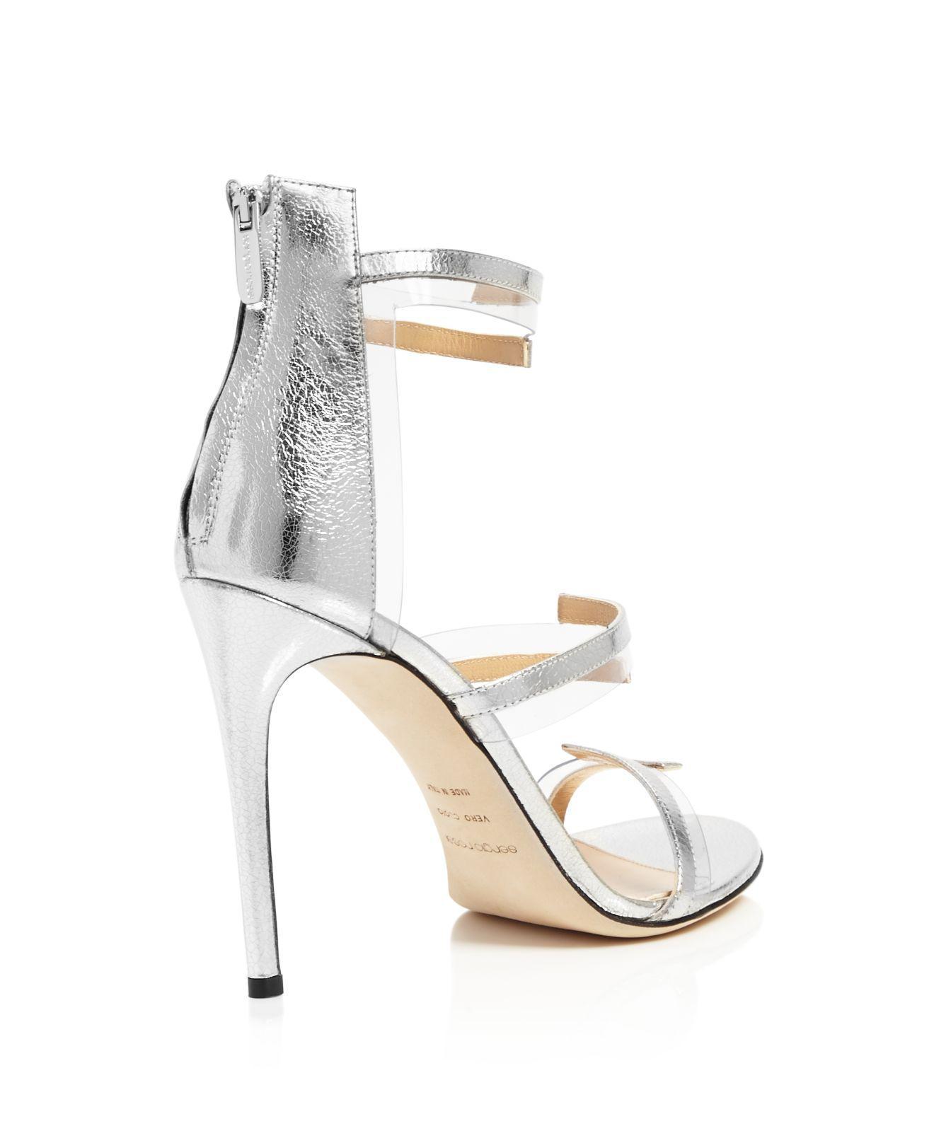 Sergio Rossi Karen Triple Strap Illusion High-Heel Sandals TfhdWHM4