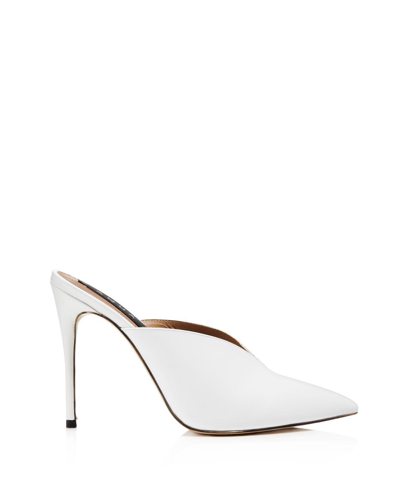 Aqua Women's Pointed Toe High-Heel Mules - 100% Exclusive 8wZsQB33r