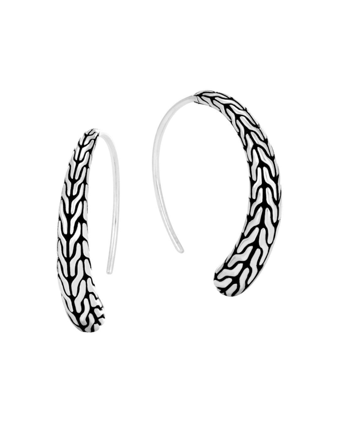 67df7484a John Hardy. Women's Metallic Sterling Silver Classic Chain Silver Small  Sweep Earrings