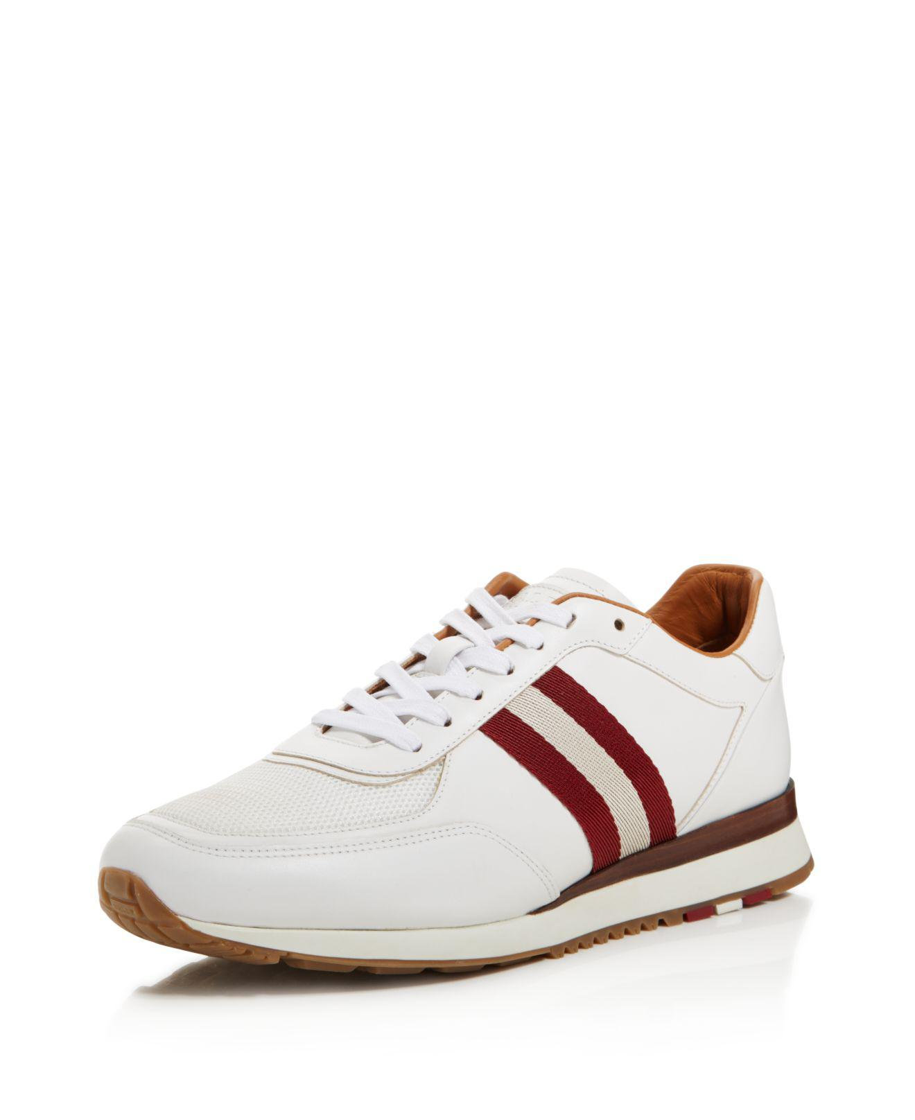 Aston White, Mens leather trainer in white Bally