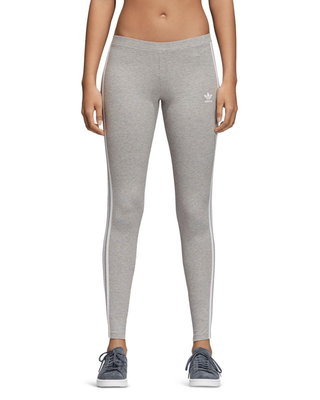 7e3c7f6ce777e1 adidas Originals Three Stripe Leggings in Gray - Save 19% - Lyst
