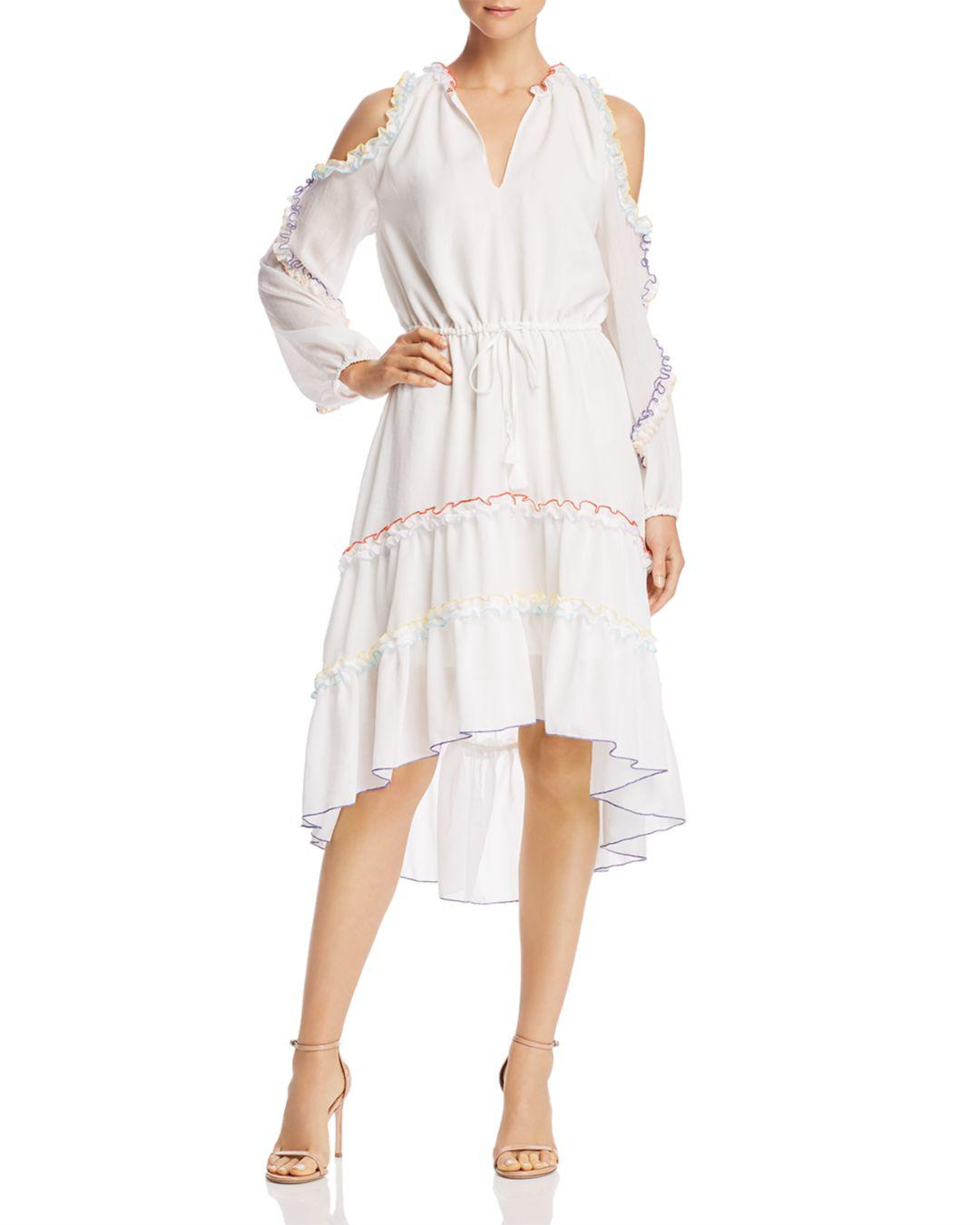 495b5bb0820 Lyst - Red Carter Lucy Cold-shoulder Ruffle Coverup Dress in White ...