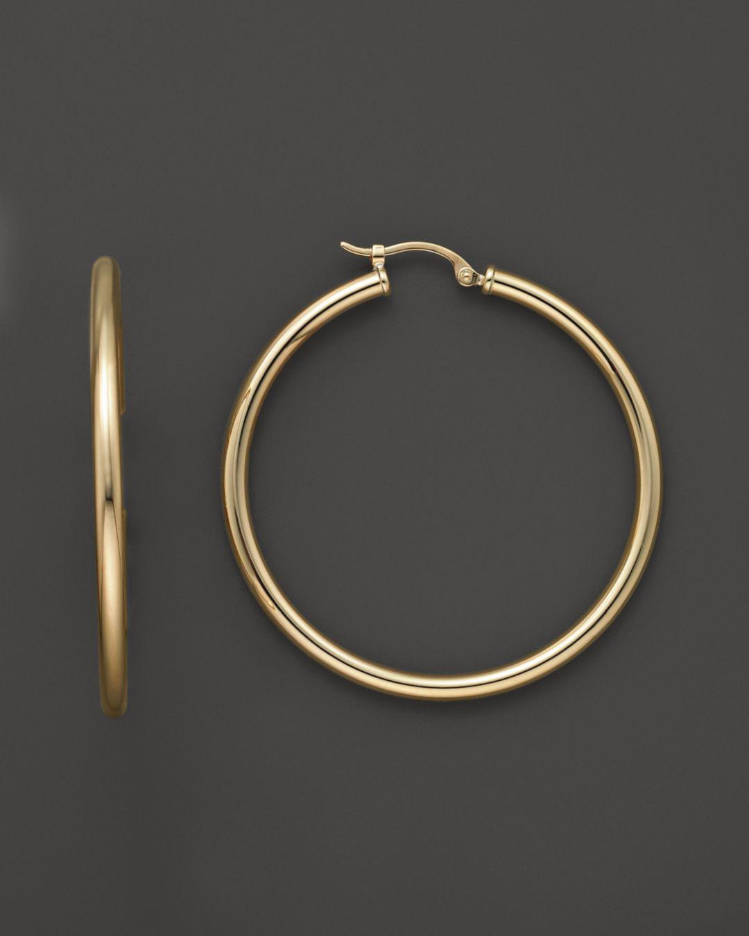 Bloomingdale S Women Metallic 14k Yellow Gold Hoop Earrings