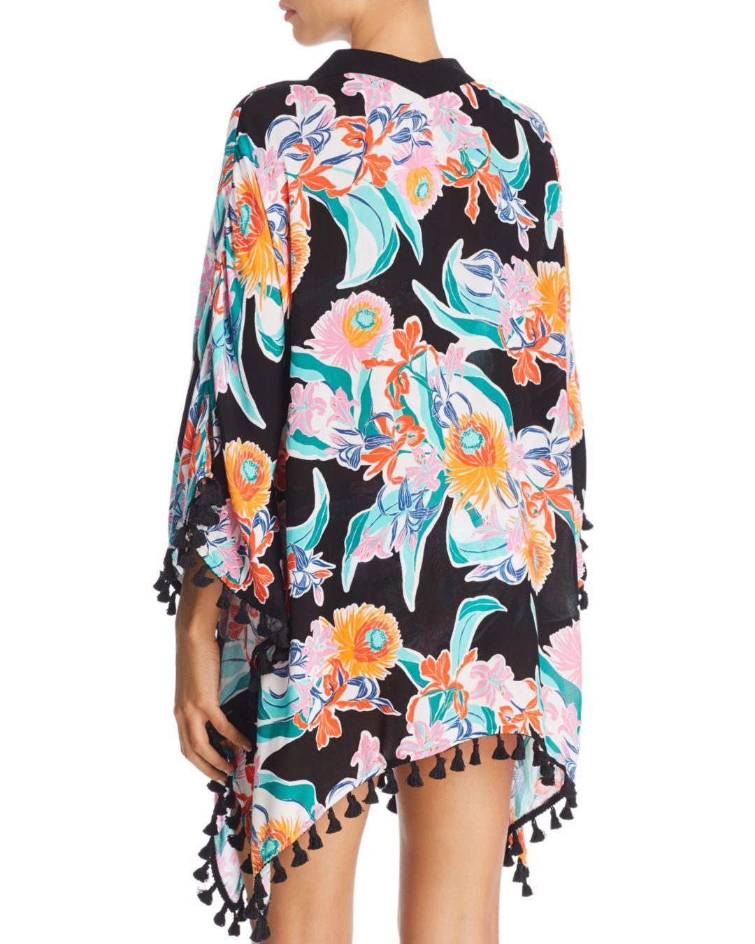 4df8ad041b Lyst - Trina Turk Tropic Wave Kimono Swim Cover-up